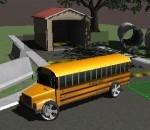 الحافلة المدرسية وقوف السيارات 3D