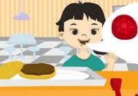 لعبة تحضير وجبه الاطفال