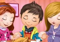لعبة تلبيس الاطفال الثلاثه