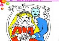 لعبة تلوين صور العروسين