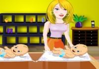 لعبة العنايه بالاطفال التوأم