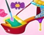 العاب بنات يومية تصميم أحذية سندريلا