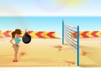 لعبة كرة اليد علي البحر