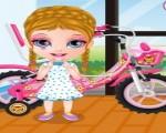 العاب بنات باربي الصغيرة وركوب الدراجة