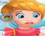 العاب بنات يومية الطفلة ليزى عند طبيب الأذن