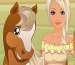 لعبة باربى والحصان