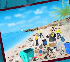 العاب تنظيف على الشاطئ