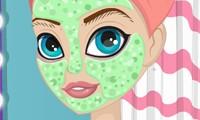 العاب تنظيف البشرة والوجه والجسم والشعر