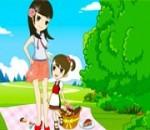 لعبة سفارى فى البر مع ام وابنتها
